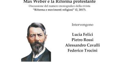 Incontro su Max Weber