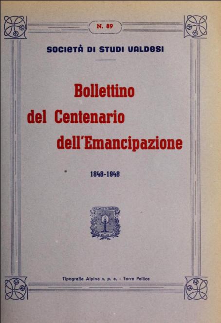bollettino della società di studi valdesi 1848-1948
